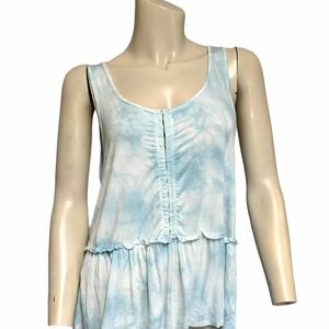 AEO LG top soft & sexy tie dye hook front babydoll